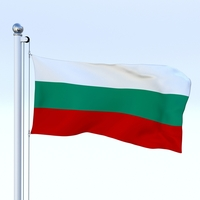 Animated Bulgaria Flag 3D Model