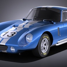 Shelby Daytona Cobra Coupe 1964 VRAY 3D Model