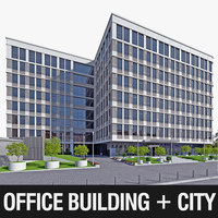 Office Building 01 3D Model