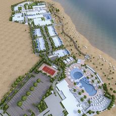 Beach Residences Resort 3D Model