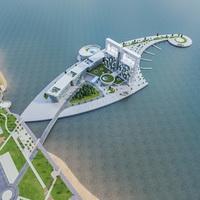 Hotel Resort Complex 3D Model