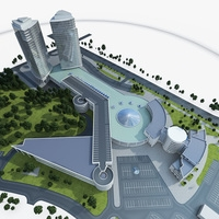 Business Center 3D Model