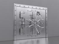 Bank Safe Vault 3D Model
