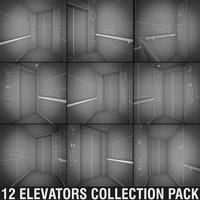 OTIS Elevators Collection Pack 3D Model