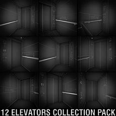 OTIS Elevators Collection Pack 3D Model