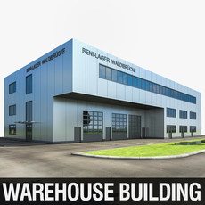 Warehouse Building 3D Model