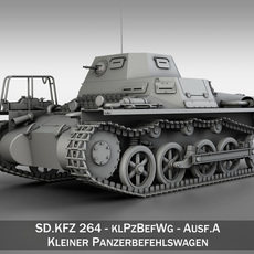 SD.KFZ 265 Panzerbefehlswagen - Command Tank 3D Model