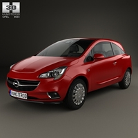 Opel Corsa (E) 3-door 2014 3D Model