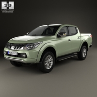Mitsubishi L200 Triton Double Cab 2015 3D Model
