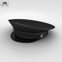Police Uniform Hat 3D Model