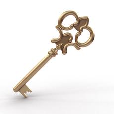 Golden Key 3D Model