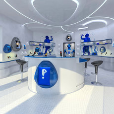 Modern Mobile Shop Interior 3D Model