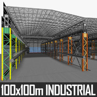 Industrial Building Interior 01 3D Model