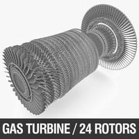 Gas Turbine Rotor 3D Model