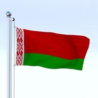 Animated Belarus Flag 3D Model