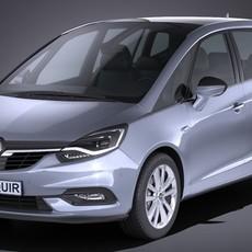 Opel Zafira 2017 3D Model