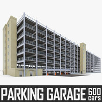 Multistory Parking Garage 01 3D Model