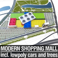 Shopping Mall 04 3D Model