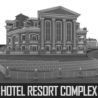 Hotel Resort Wellness Complex 3D Model