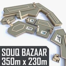 Souq Bazaar Market 3D Model