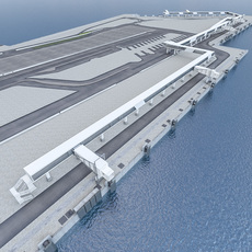 Port Gangway Full Set 3D Model