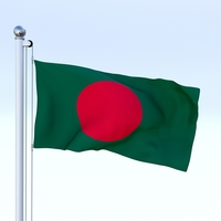 Animated Bangladesh Flag 3D Model