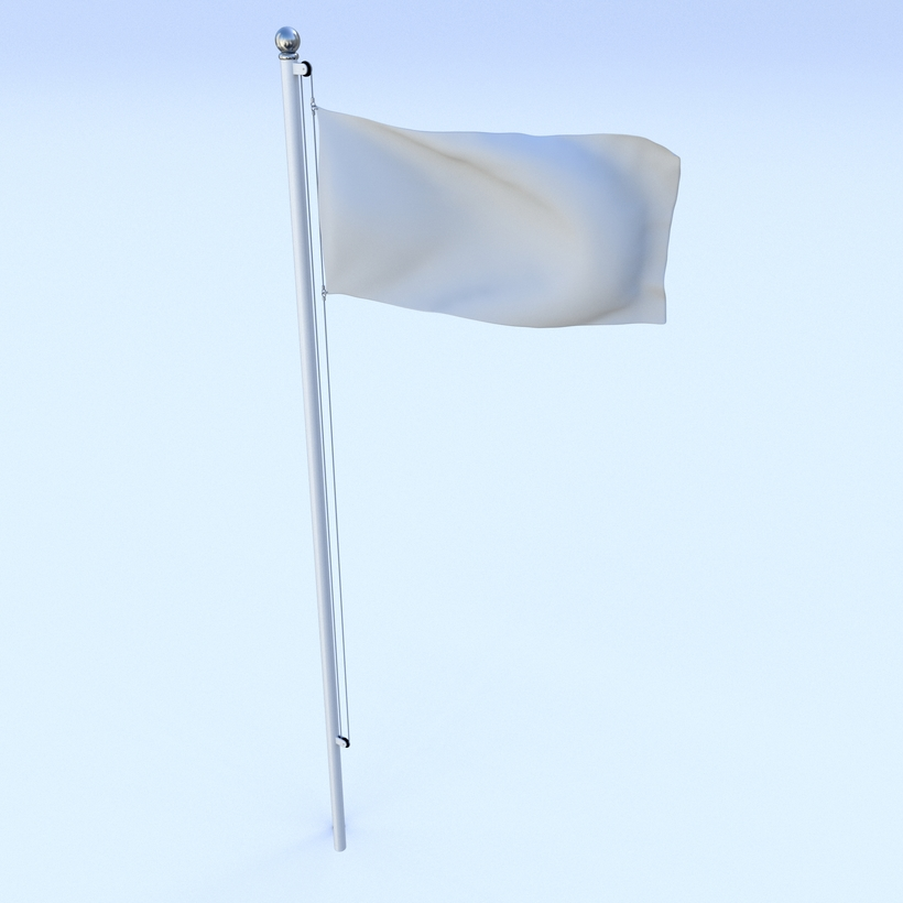 Animated Azerbaijan Flag 3D Model