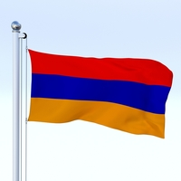 Animated Armenia Flag 3D Model