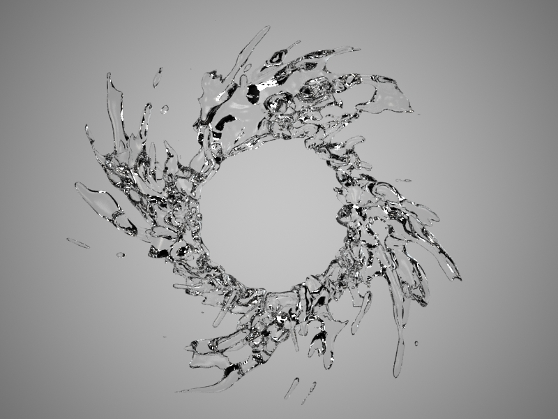 Abstract Liquid 3D Model
