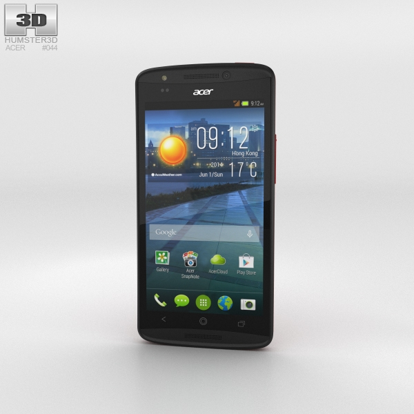 Acer Liquid E700 Burgundy Red 3D Model