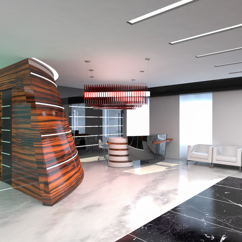 Hall Lobby Interior 3D Model