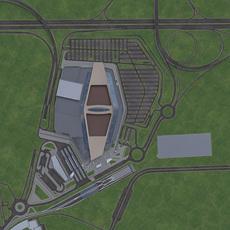 Shopping Mall Urban Area 3D Model