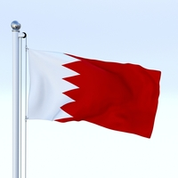 Animated Bahrain Flag 3D Model