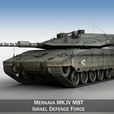 Merkava IV -  Israel Defense Forces 3D Model