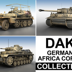 Deutsches Afrika Korps (DAK) - Collection 3D Model