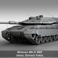 Merkava IV MBT 3D Model