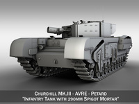 Churchill MK.III AVRE 3D Model