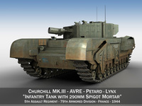 Churchill MK.III AVRE - Lynx 3D Model