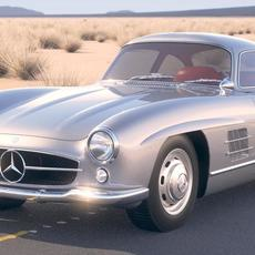 Mercedes 300SL Gullwing w198 1955 3D Model