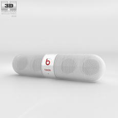 Beats Pill 2.0 Wireless Speaker White 3D Model