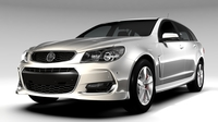 Holden Commodore SV6 Sportwagon VF Series II 2016 3D Model
