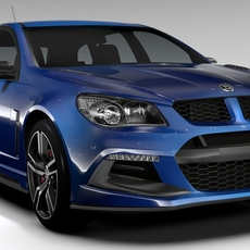 HSV Clubsport Tourer Gen F2 2016 3D Model