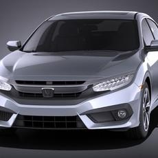 Honda Civic Sedan EX 2017 VRAY 3D Model