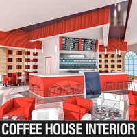 Coffee House Interior 3D Model