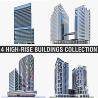 High-rise Buildings Collection 01 3D Model