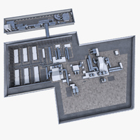 Rooftop ventilation equipment 3D Model