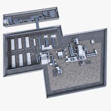 Rooftop ventilation equipment 3D Model