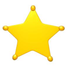 Sheriff star 3D Model