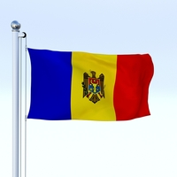 Animated Moldova Flag 3D Model