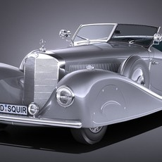 Mercedes-Benz 500K Erdmann & Rossi 1936 3D Model